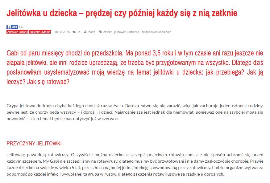 wpis z bloga oczekujac.pl